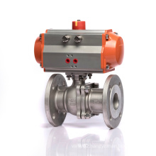 KLQD Brand DN50 Stainless Steel Flange Conntect 2 Way SS Ball Valve