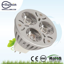 mini base llevada impermeable de la luz 3w mr16