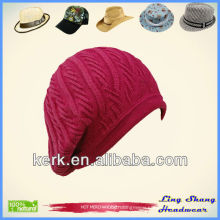 LSC24 Ningbo Lingshang elegant winter women cotton hats and caps
