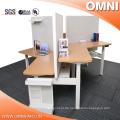 Open Style 3 Person 120 Degree Office Höhenverstellbare Workstation