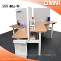 Open Style 3 Person 120 Degree Office Altura ajustável Workstation