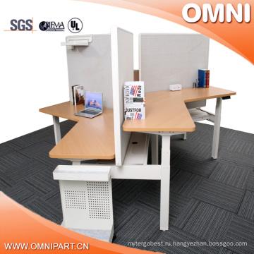 Открытый Стиль 3 Человека, Офис 120 Градусов Высота Регулируемая Рабочая Станция