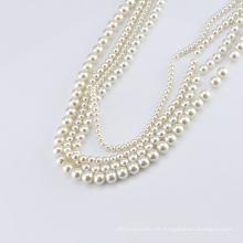 Runde flache rückseitige Perle / lose ABS Perlen