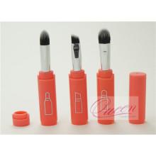 Mini 3pcs laranja mão de viagem escova de maquiagem conjunto