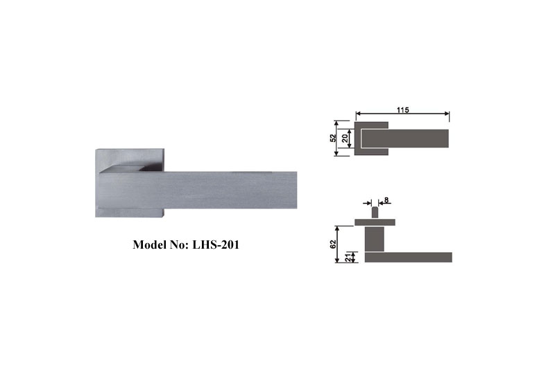 Satin Finish Privacy Door Lever Handles B