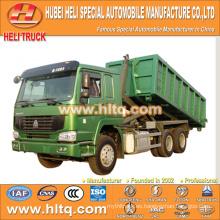 SINOTRUK HOWO 6X4 16CBM LHD gancho brazo camión de basura 336hp precio barato para la venta En China