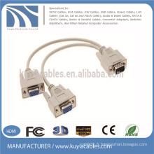 Gros 15 broches 3 + 6 VGA à VGA câble 1 mâle à 2 femelles
