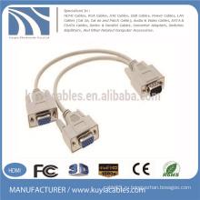 Оптовый кабель 15pin 3 + 6 VGA к VGA 1 мужчина к 2 женщине