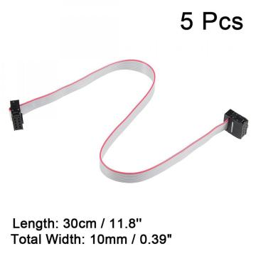 8P IDC pitch datar kabel abu-abu 1.27mm