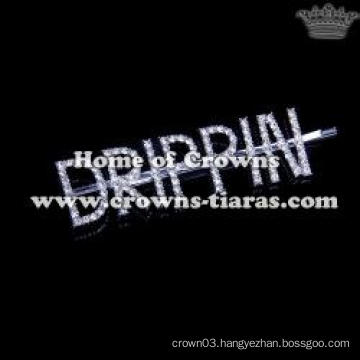 "Crystal Letter ""DRIPPIN"" Hair Clip Hair Accessory"