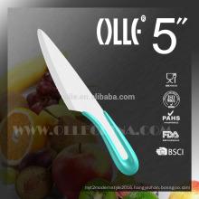 "2016 New design 5"" White Blade Ceramic Paring Knife U Type Handle"