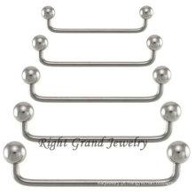 Piercing de Barbell superfície 316L cirúrgico aço 90 graus