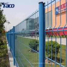 Clôture incurvée galvanisée résistante de PVC de maille résistante, attaches de barrière de maille de fil