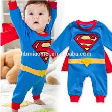 Mameluco de bebé superman manga larga y manga corta para la primavera y el otoño