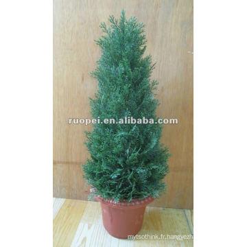 Bonsaï artificiel d'arbre de Noël pour la décoration à la maison, usine artificielle