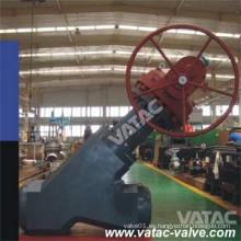 Válvula de globo Y de engranaje de alta presión