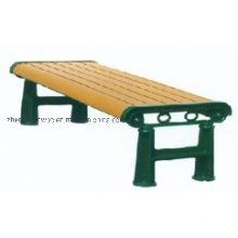 Factory Wholesale Outdoor WPC Chair Composite Plastic Bench Garden WPC Bench