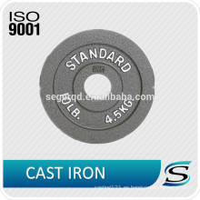 Nuevo diseño de placa de peso de fundición de hierro negro