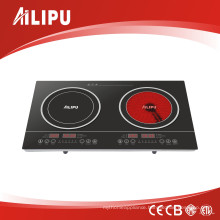Double Burners Low Price Induction Cooker & Infrared Cooker (SM-DIC03)