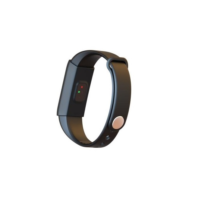 Single touch screen bracelet with heart rate detection
