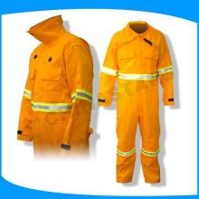 Preço de fábrica EN14116 workwear retardador de chamas para bombeiro vestindo