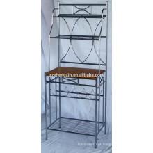 Rack de armazenamento de aço inoxidável, rack de exibição de metal