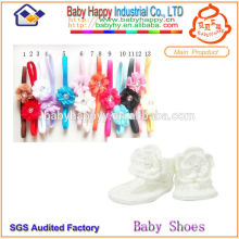 Chaussures bébé à la main Crochet et bandeau de fantaisie