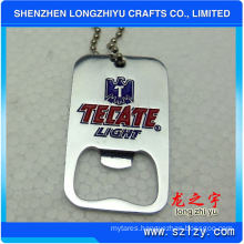Silver Metal Bottle Opener Dog Tag with Custom Logo