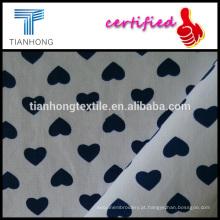 impressão de coração pequeno ao longo do poplin de algodão tecido fundo branco 100 tecer tecidos de algodão