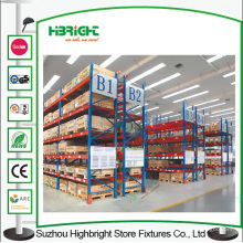 Systèmes de stockage logistiques résistants durables de support en métal d'entrepôt