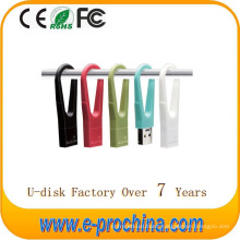 Hot Sale Plastic Ring Color USB Flash Disk Pen drive