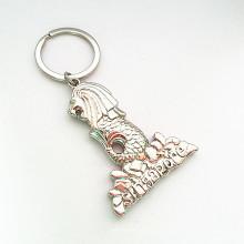 Singapour Souvenir Cadeau Porte-clés en métal avec porte-clés (F1111)