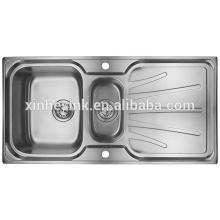 Drop-in Topmount Stainless Steel Kitchen Sink with Drainer