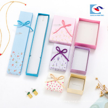 China factory white small cardboard unique jewelry set gift boxes for sale customs logo printing