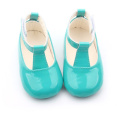 Fashion Cow Leather Green Shoes Shoes Christmas Party