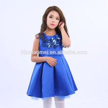 2017 Chine Fournisseur En Gros Mode Enfants Robes Conceptions Fille Partie Porter Enfants Robe avec paillettes
