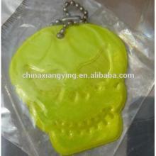 Промоушн Светоотражающая цепочка ключей, Мягкая цепочка ключей из ПВХ Custom, Желтая брелка для ключей
