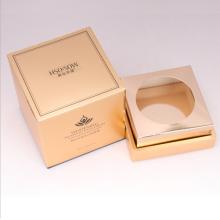 boîte de crème de bougie suare personnalisée avec papier doré