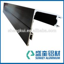 Chinese manufacturer with black powder coating for v-slot aluminum profile in Zhejiang China