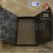 OEM Jewelry Silver Foil Printing Gift Box with Magnetic
