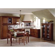 Armario de cocina de madera maciza de estilo americano de alta calidad estándar