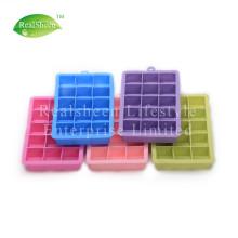 Bandeja de cubo de gelo de silicone tamanho perfeito de 15 furos