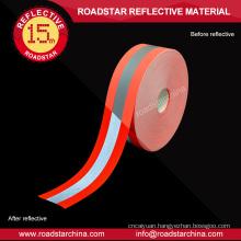 orange silver orange flame retardant reflective fabric tape of clothing