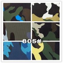 Tela de cuero de imitación de camuflaje impresa de cuero para muebles de sofá (805 #)