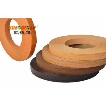 Wood Finish Woodgrain PVC Edge Banding For Furniture