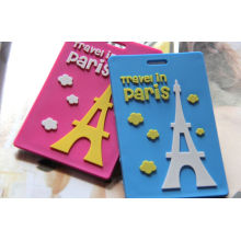 Popularly Custom Promotion Gift Rubber PVC Luggage Tag