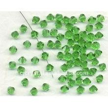 Venta al por mayor Peridot Crystal Bicone perlas, baratos bicone beads