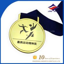 Professional metal fake gold custom commemoration medal