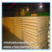PU пены 28 мм толщины FRP основных материалов