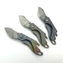 Titanium Handle Small Tactical Jagt Pocket Knife